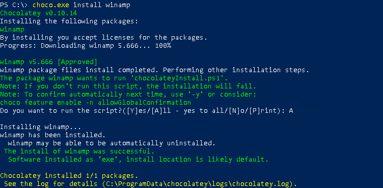 Install Packages, Programs with Chocolatey