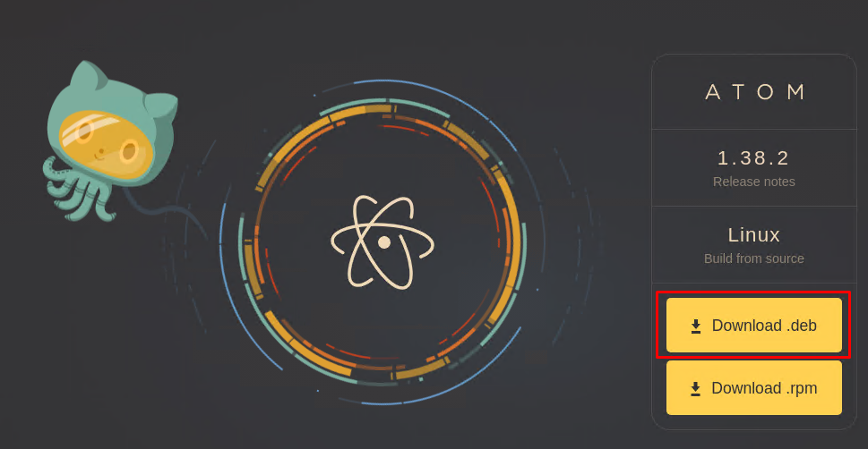 Download Atom Text/Code Editor Package