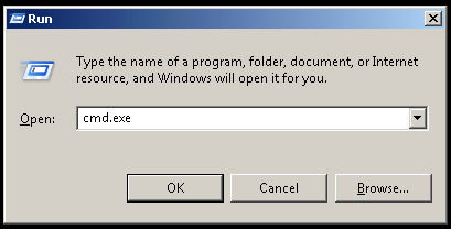 Open MS-DOS Command Prompt