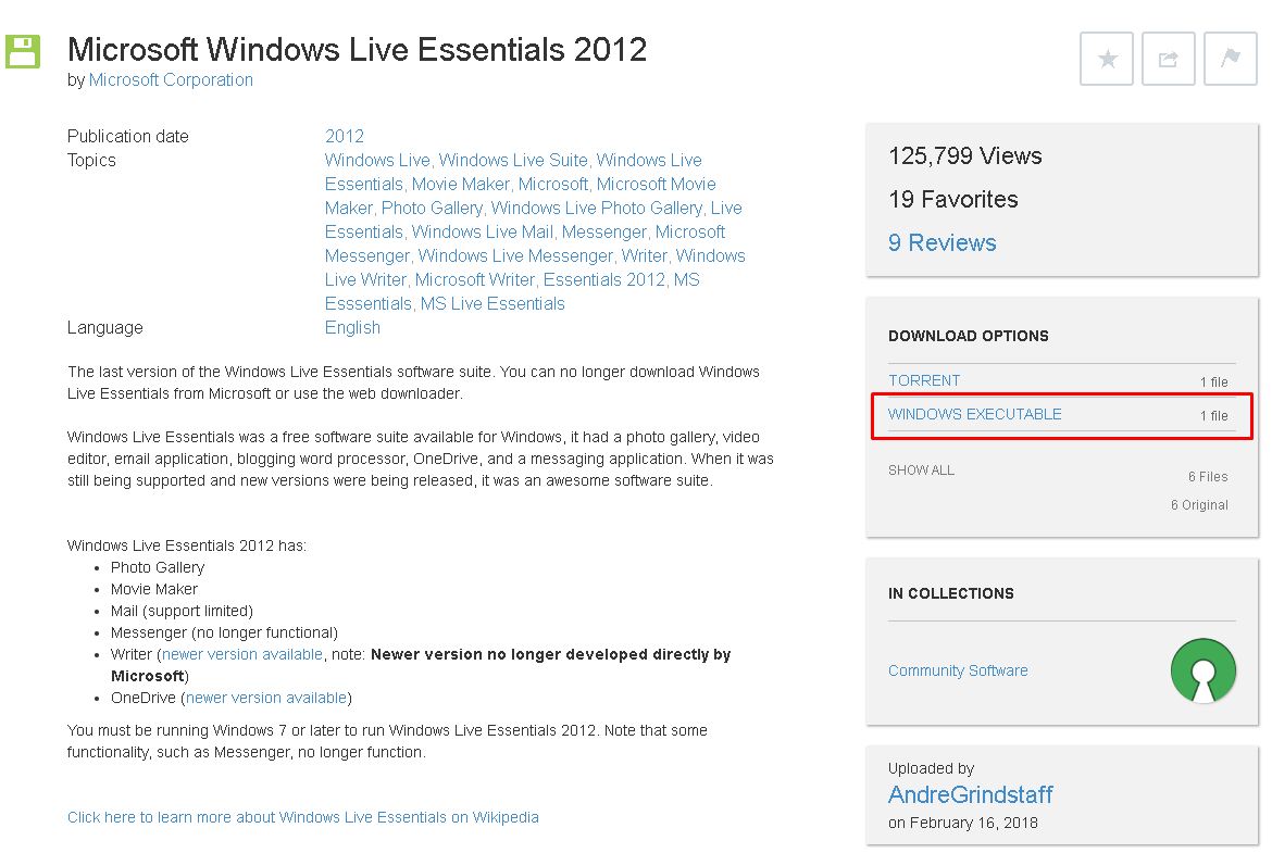 Download Windows Essentials
