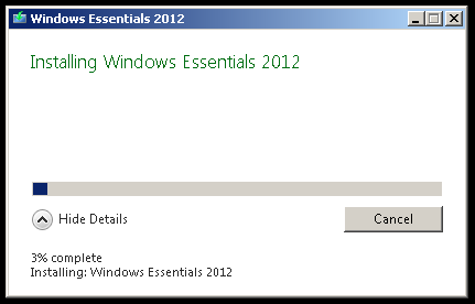 Installation of Windows Essentials