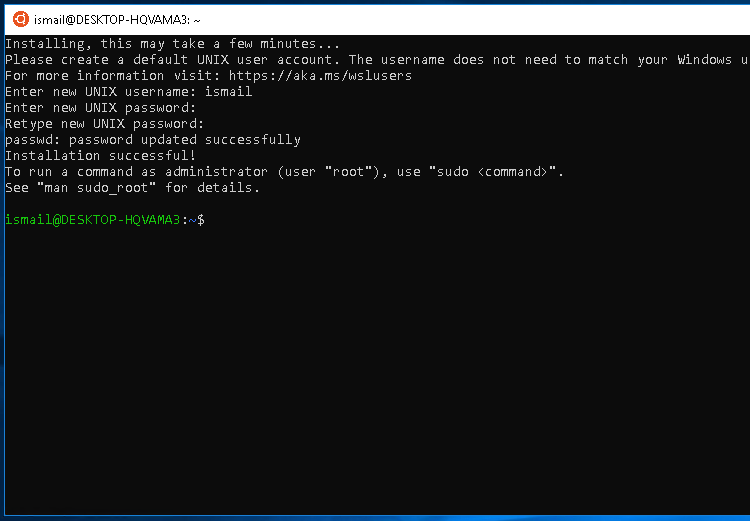 Linux Bash Shell On Windows 10