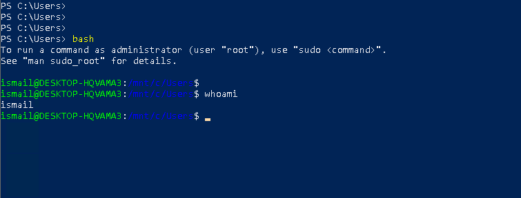 Start Bash From PowerShell