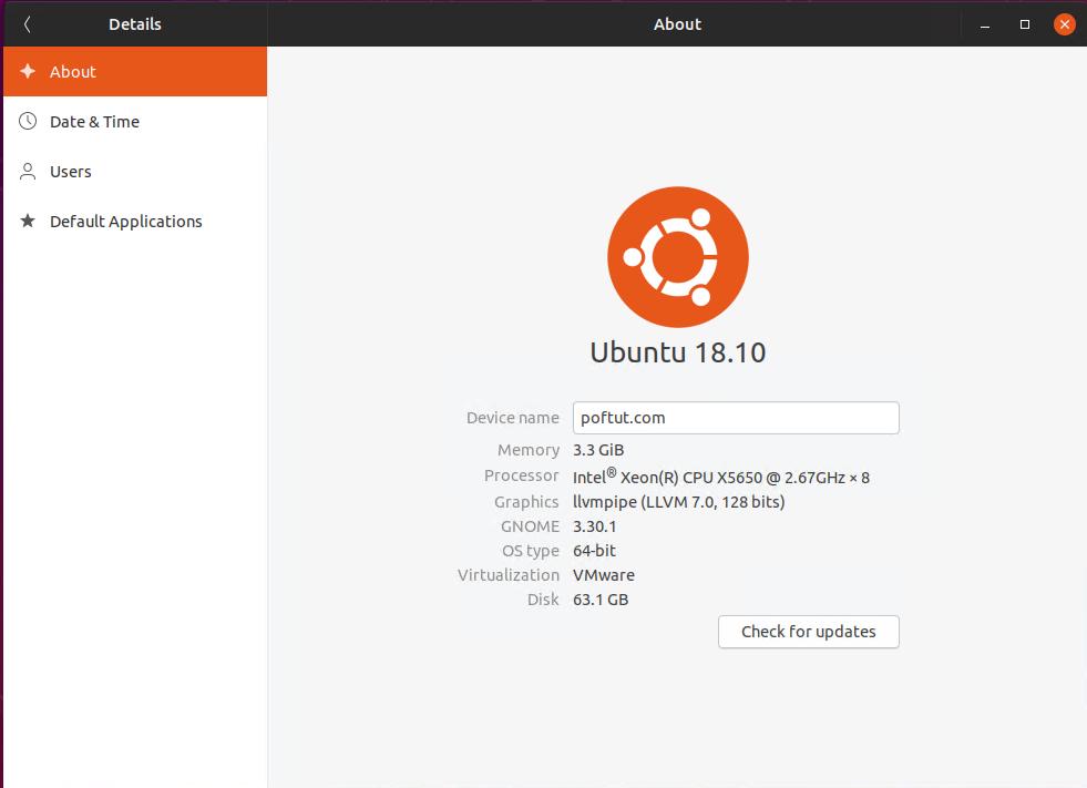 Ubuntu Version Information GUI