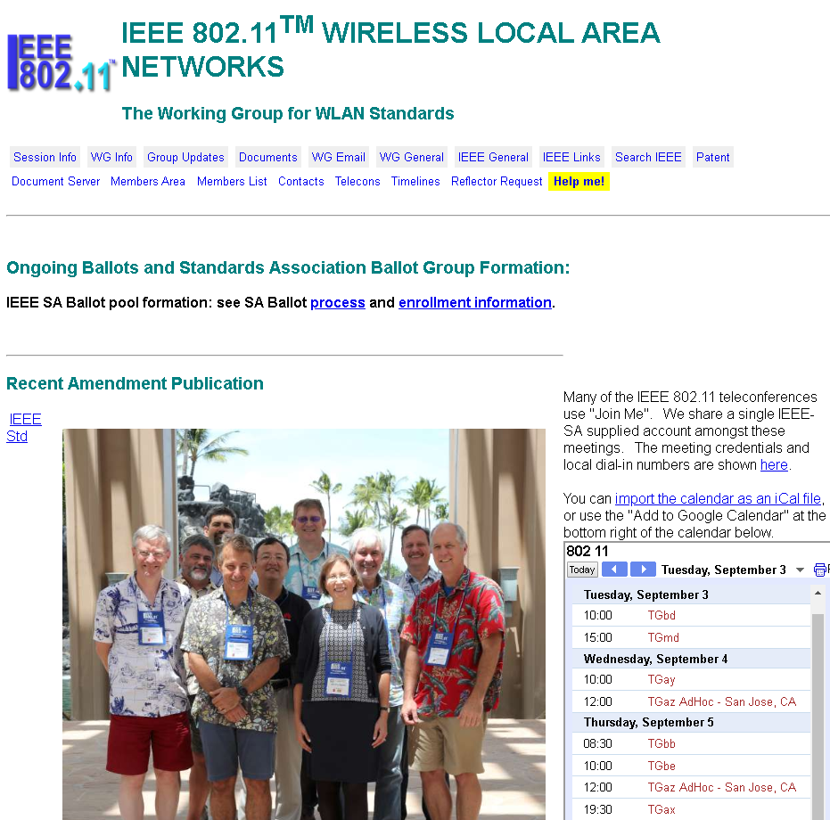 IEEE 802.1 Wireless Local Area Networks Working Group
