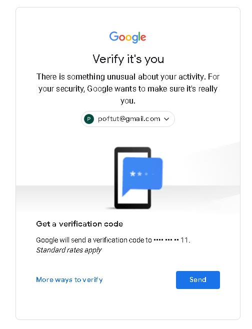 Google Verification Code