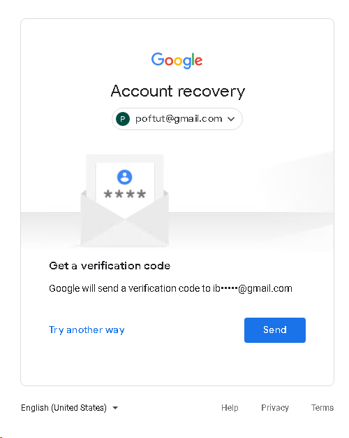 Google Account Recovery with Email