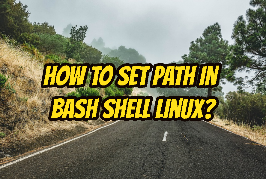 How To Set Path In Bash Shell Linux?