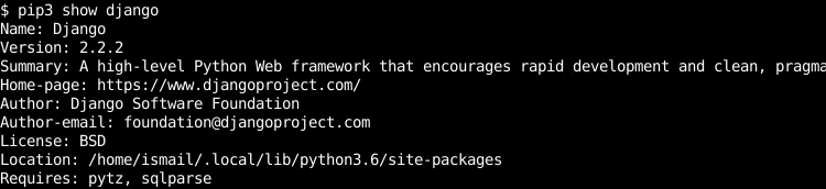 Show Python Package Information