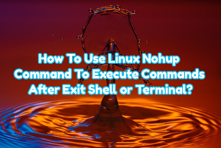 How To Use Linux Nohup Command To Execute Commands After Exit Shell or Terminal?