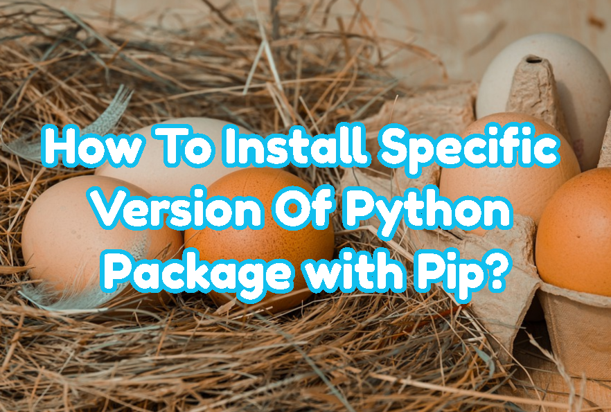 How To Install Specific Version Of Python Package with Pip?