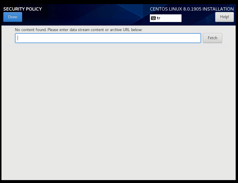CentOS 8 Install Security Policy