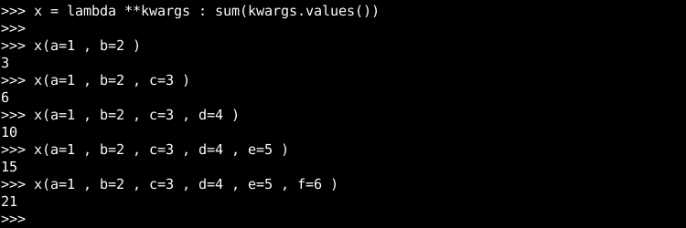 Lambda with Variable List Of Keyword Arguments