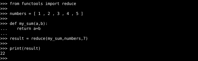 reduce() Example with Initial Value