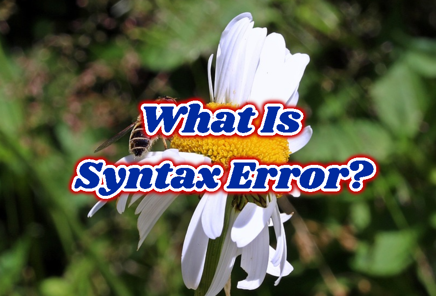 What Is Syntax Error?