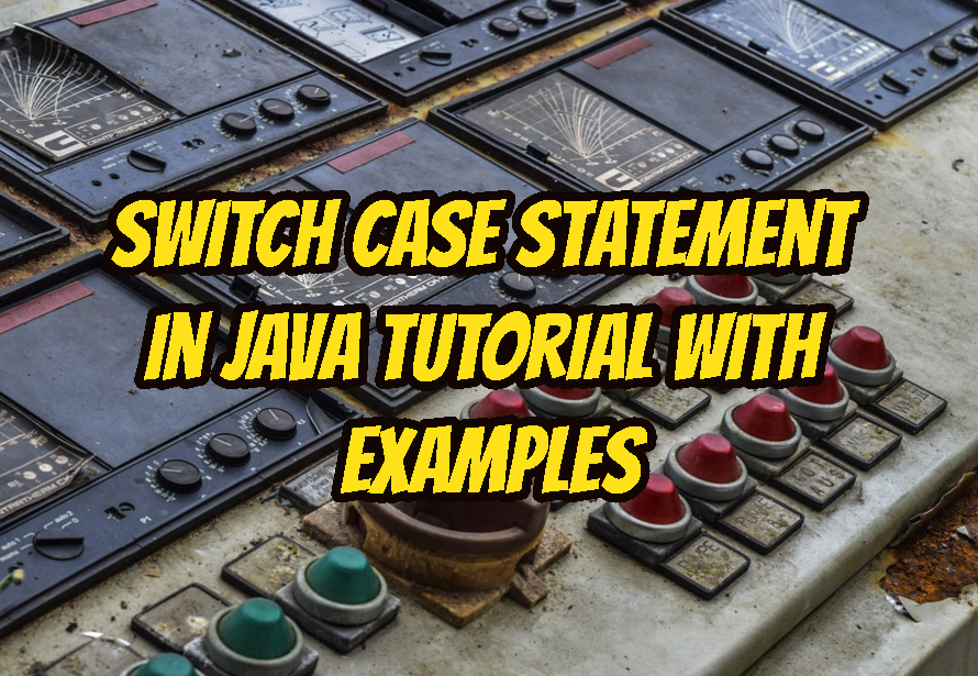 Switch Case Statement In Java Tutorial with Examples