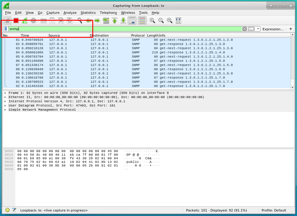 Capture SNMP Port Traffic with Wireshark