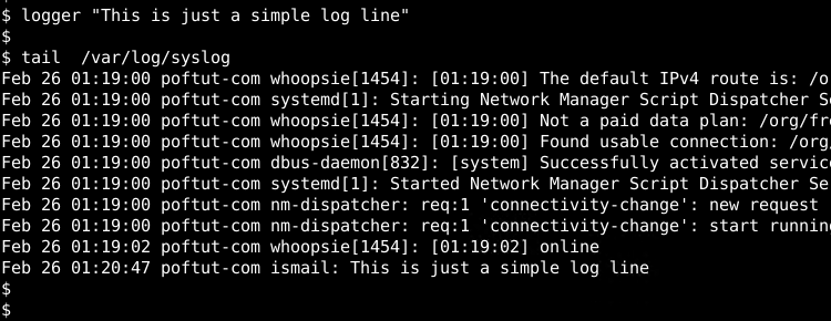 Add Log To Syslog File