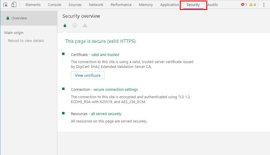 Open SSL Certificate From Developer Tools in Google Chrome