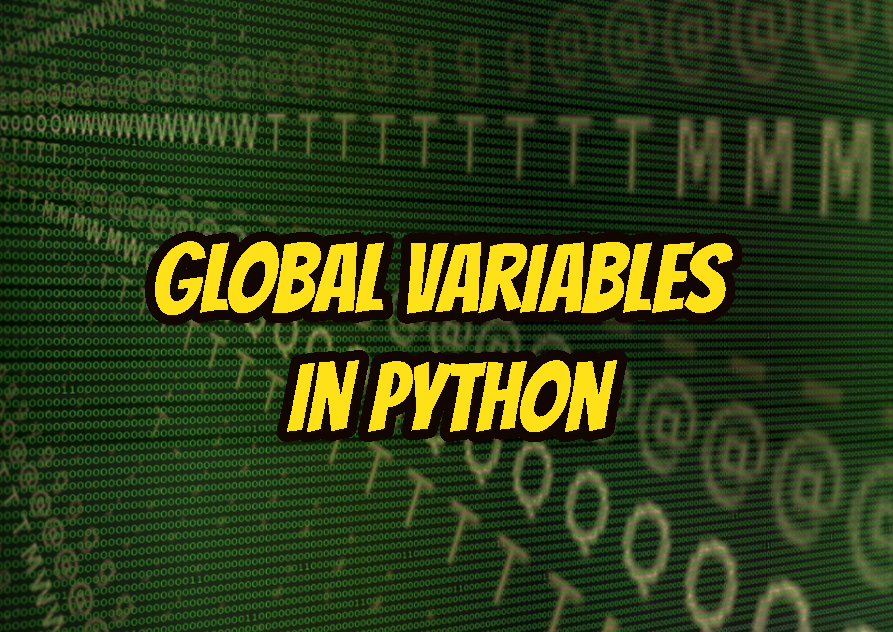 Global Variables In Python