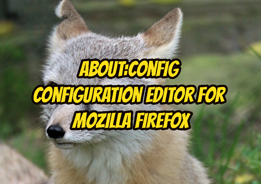 about: config Configuration Editor For Mozilla Firefox