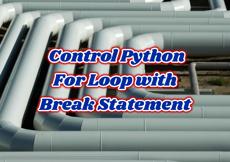 How To Control Python For Loop with Break Statement?