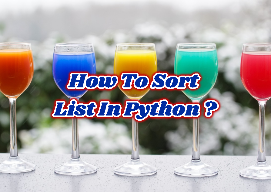 How To Sort List In Python?